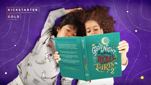 The second volume of Good Night Stories for Rebel Girls. © Timbuktu Labs